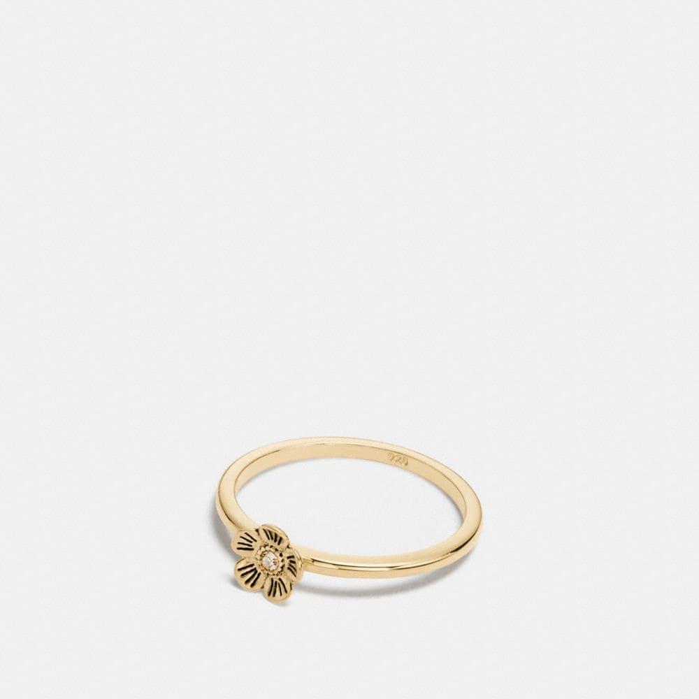 mini 18k gold plated tea rose ring