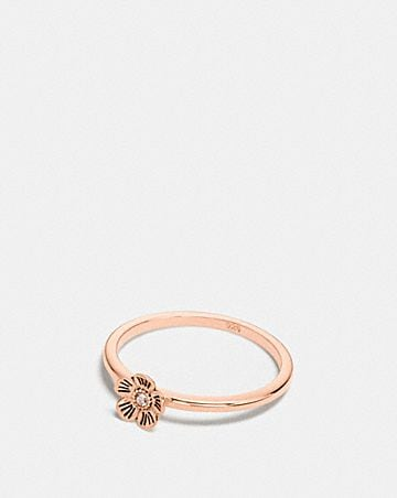 MINI 18K GOLD PLATED TEA ROSE RING