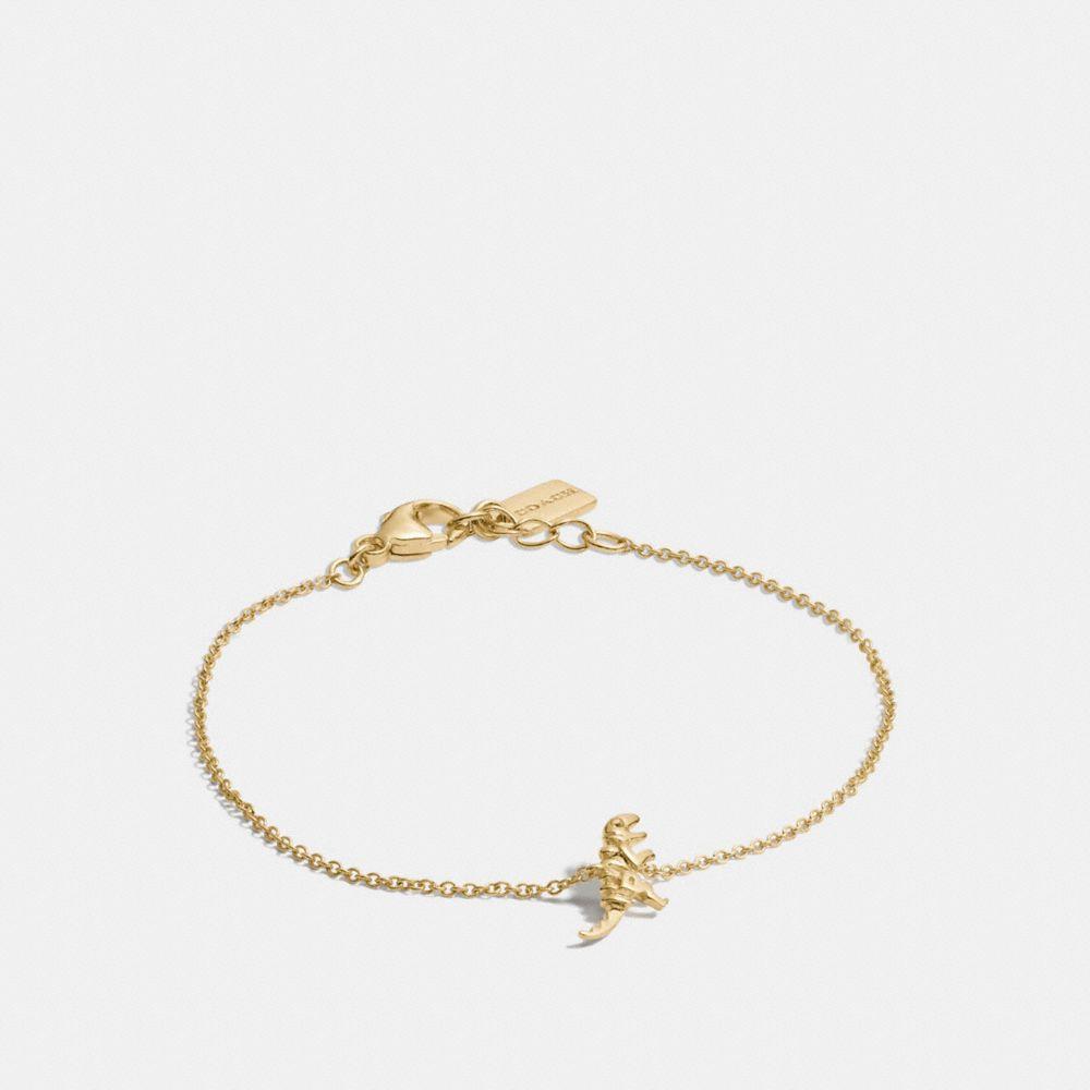 Coach Mini 18k Gold Plated Rexy Bracelet