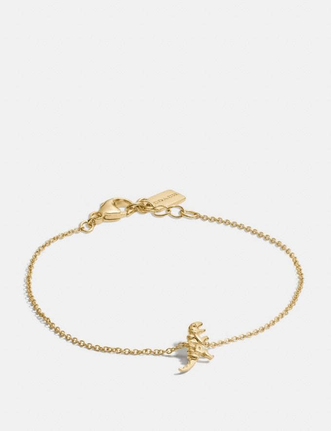 Coach Mini 18k Gold Plated Rexy Bracelet Gold CYBER MONDAY SALE Women's Sale Jewellery