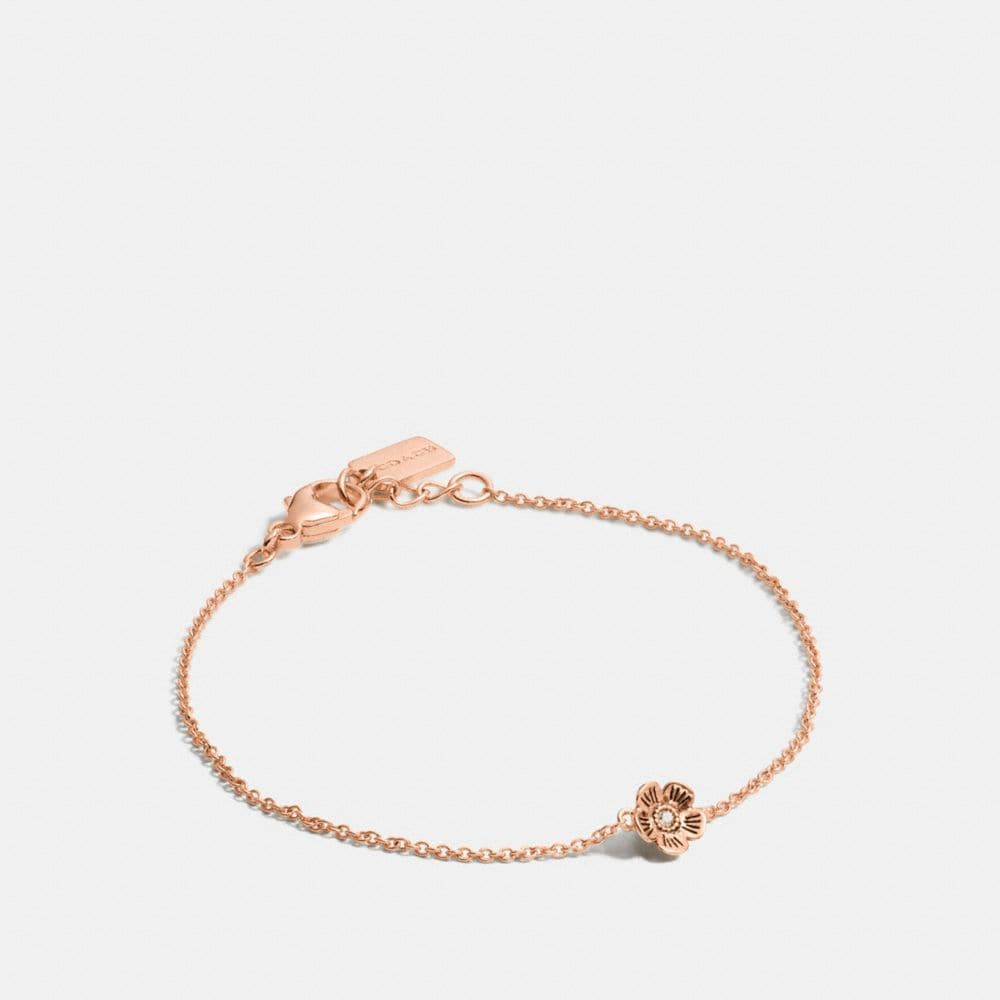 Coach Mini 18k Gold Plated Tea Rose Bracelet