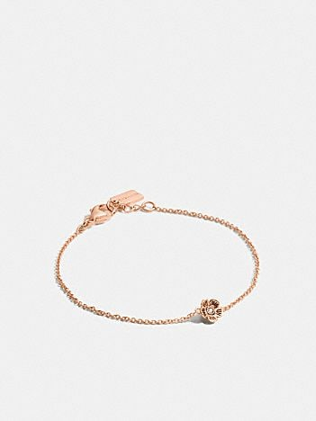 mini demi-fine tea rose bracelet