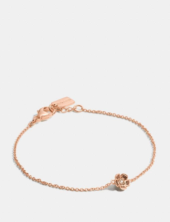 Coach Mini 18k Gold Plated Tea Rose Bracelet Rosegold Gifts Holiday Shop Jewellery Gifts