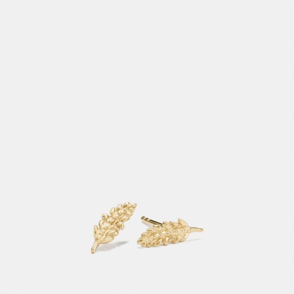 Coach Mini Demi-Fine Feather Stud Earrings