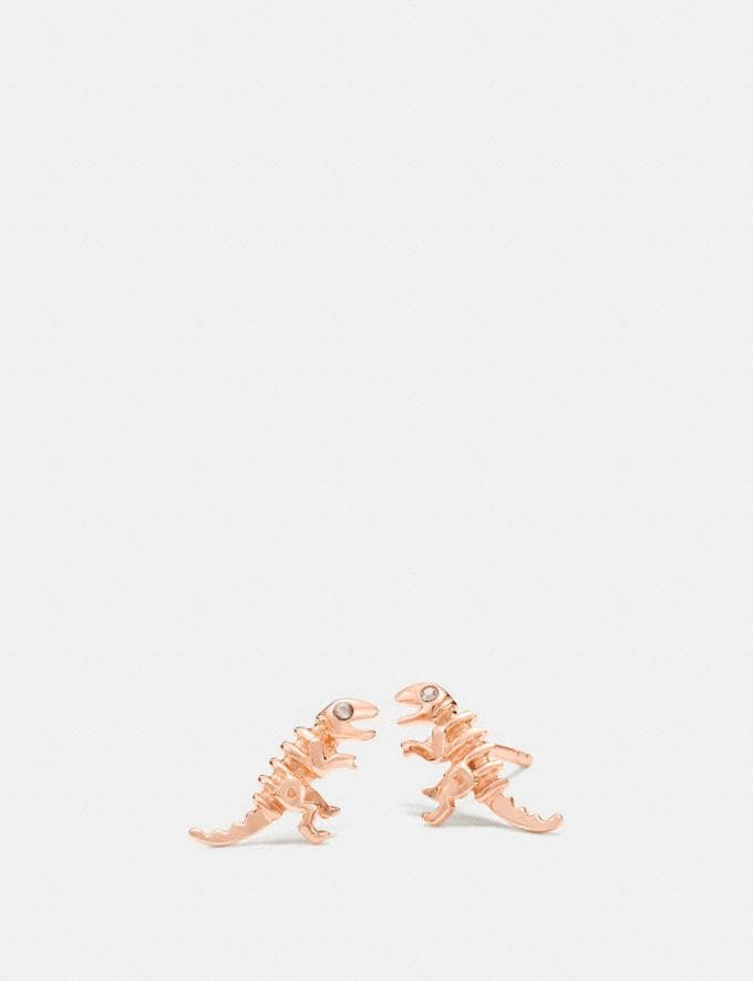 Coach Mini Demi-Fine Rexy Stud Earrings Rosegold Women Accessories Jewelry Earrings