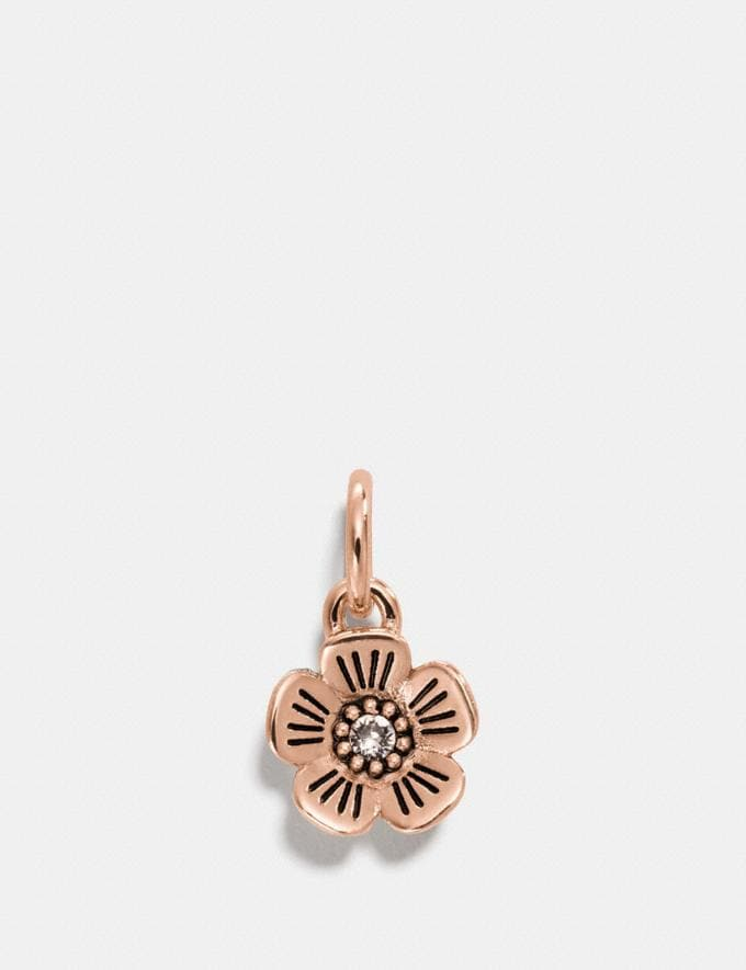 Coach Tea Rose Charm Rosegold 30% off Select Full-Price Styles