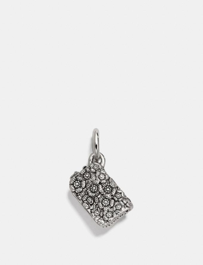 Coach Dinky Bag Charm Silver/Silver Women Accessories Jewelry Charms