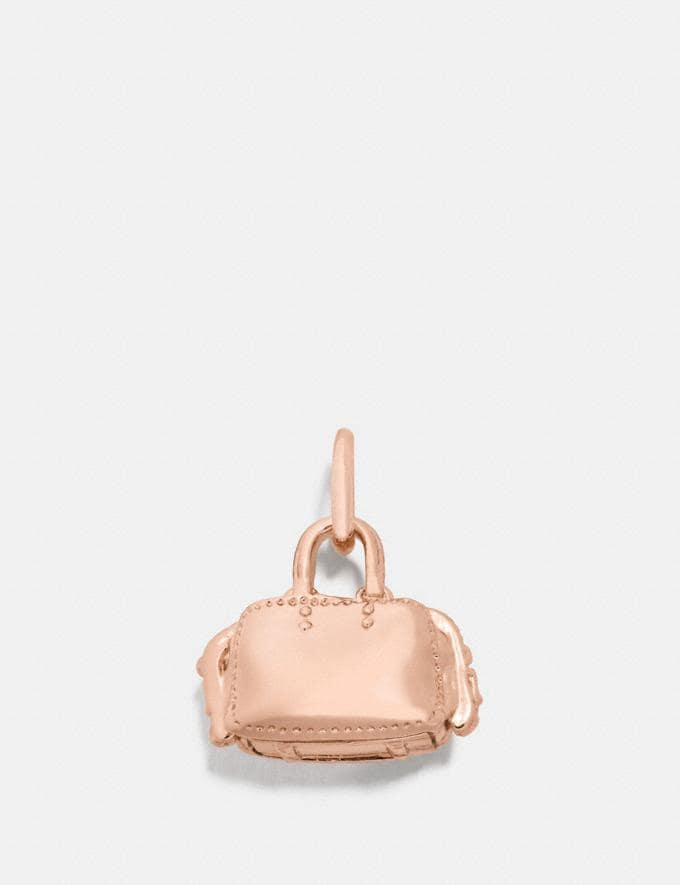 Coach Rogue Bag Charm Rosegold Women Accessories Jewelry Charms