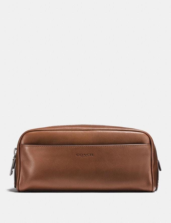 Coach Dopp Kit Dark Saddle Gifts For Him Under £250