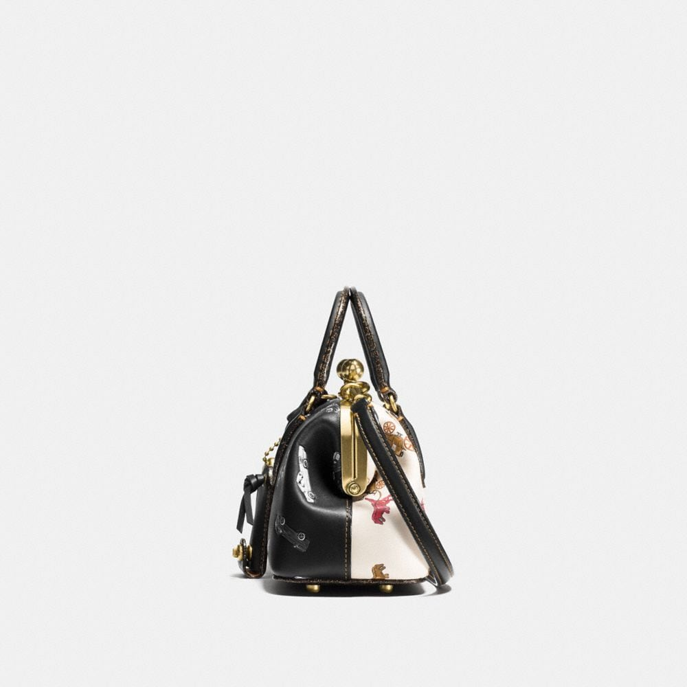 Coach Kisslock Satchel With Colorblock Car and Rexy Print Alternate View 1