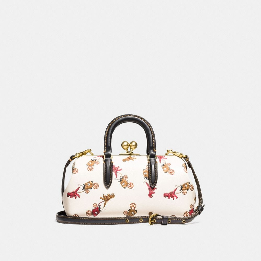 Coach Kisslock Satchel With Colorblock Car and Rexy Print Alternate View 2
