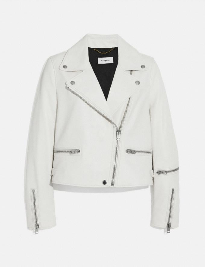 Coach Ghost Biker Jacket White