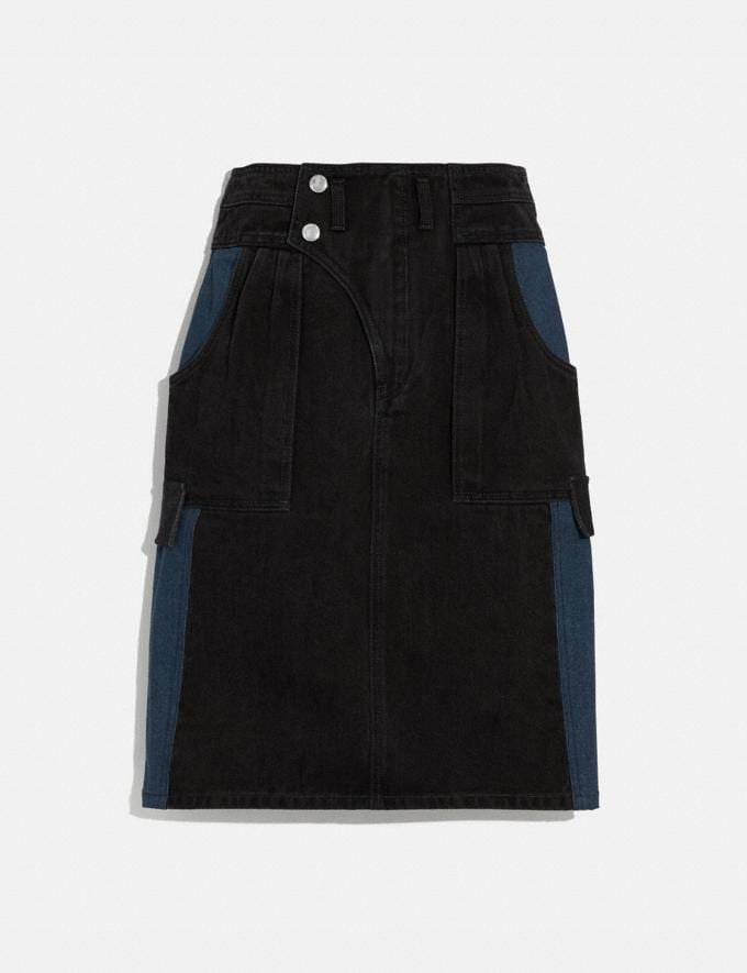 Coach Denim Skirt Black