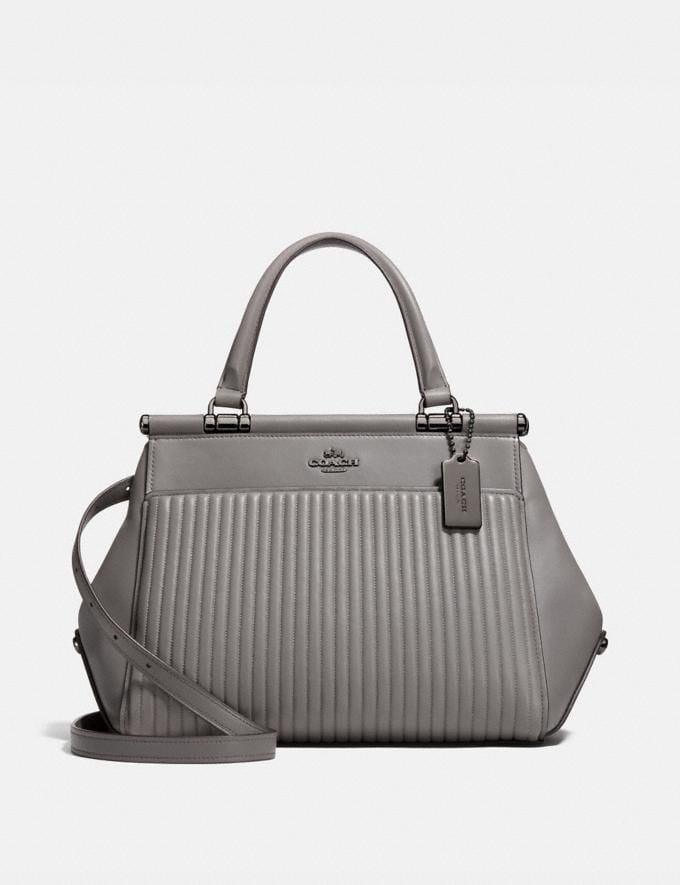 Coach Grace Bag With Quilting Heather Grey/Dark Gunmetal