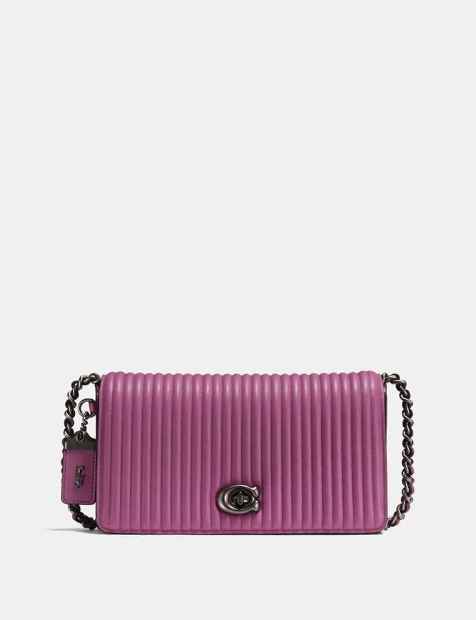 Coach Dinky With Quilting Black Copper/Heather Grey New Featured Featured Coach and i-D: Style A-to-Zs