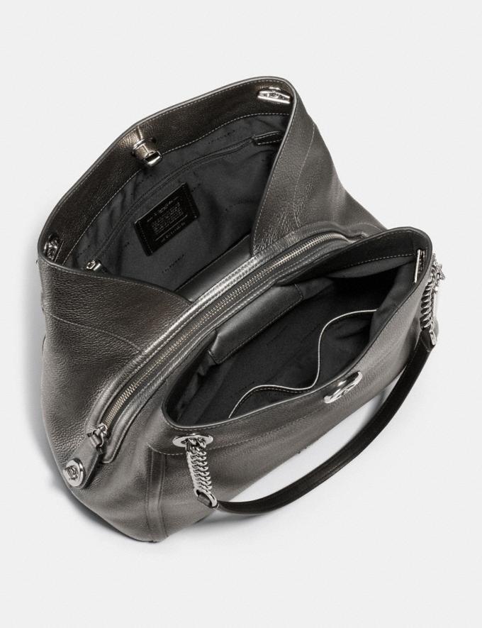 Coach Turnlock Edie Shoulder Bag Metallic Graphite/Gunmetal Singles Day Alternate View 2