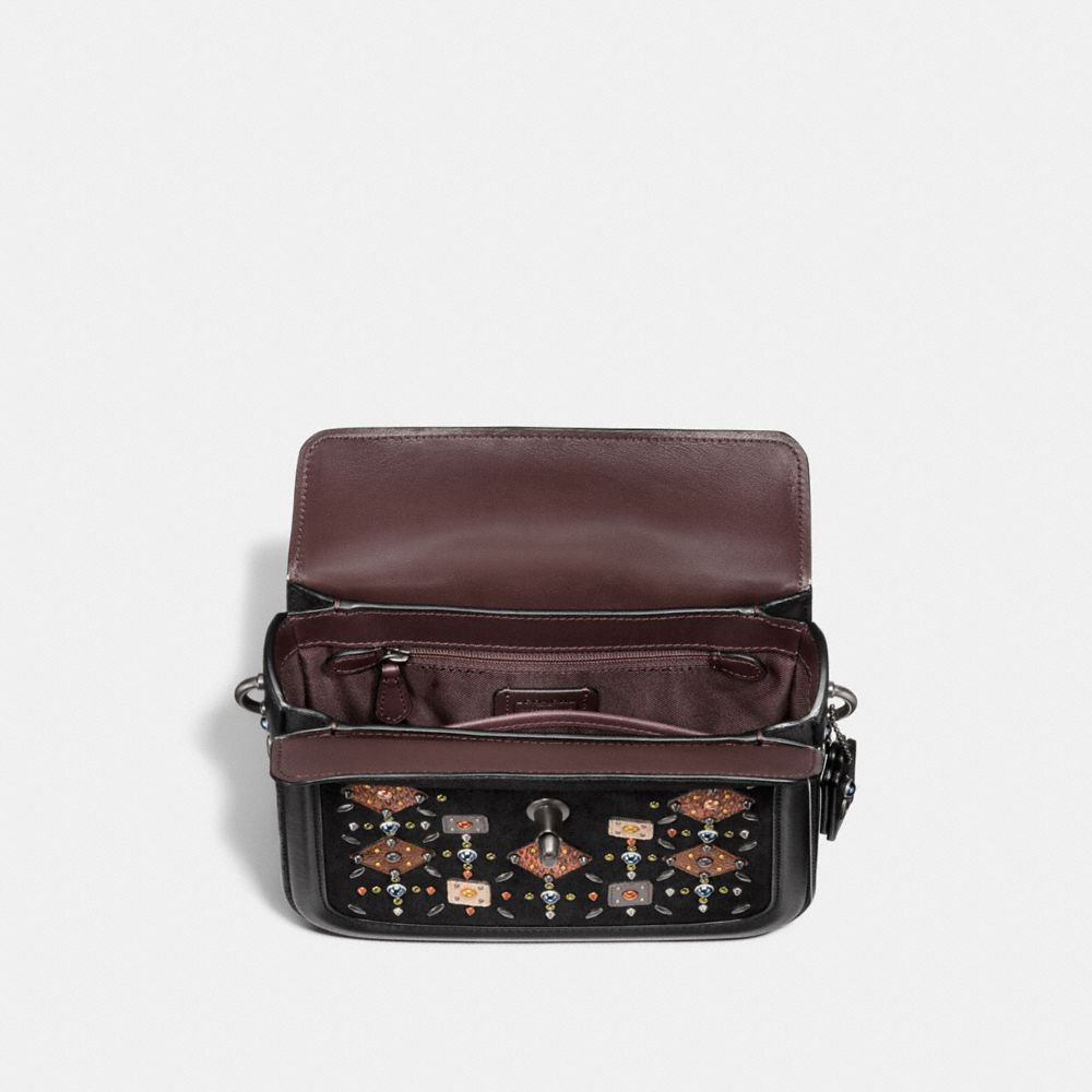 Coach Page Crossbody With Prairie Rivets and Snakeskin Detail Alternate View 2