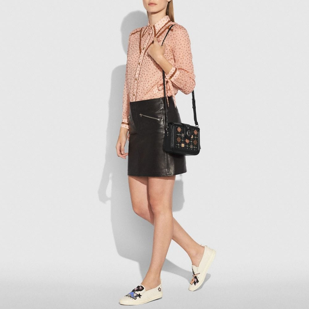 Coach Page Crossbody With Prairie Rivets and Snakeskin Detail Alternate View 3