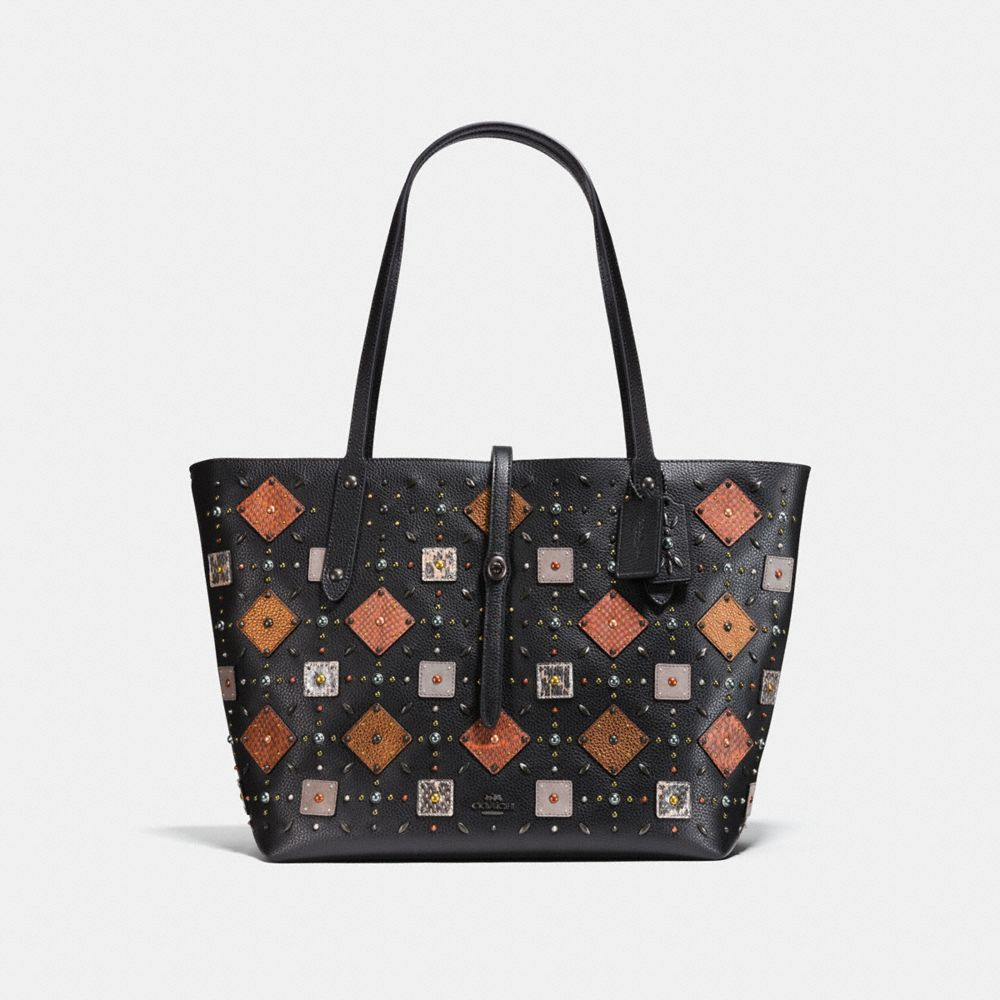Coach Market Tote With Prairie Rivets