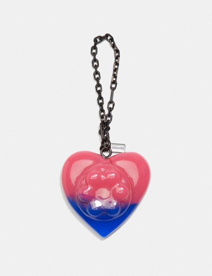 Coach Coach X Richard Bernstein Jello Heart Bag Charm V5/Pink Blue Women Accessories Jewellery Charms