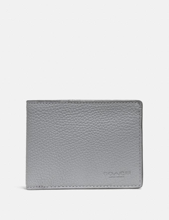 Coach Slim Billfold Wallet Heather Grey Men Wallets