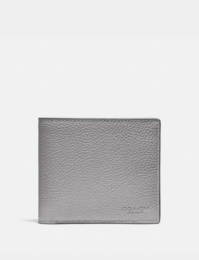 Coach 3-In-1 Wallet Heather Grey Men Wallets