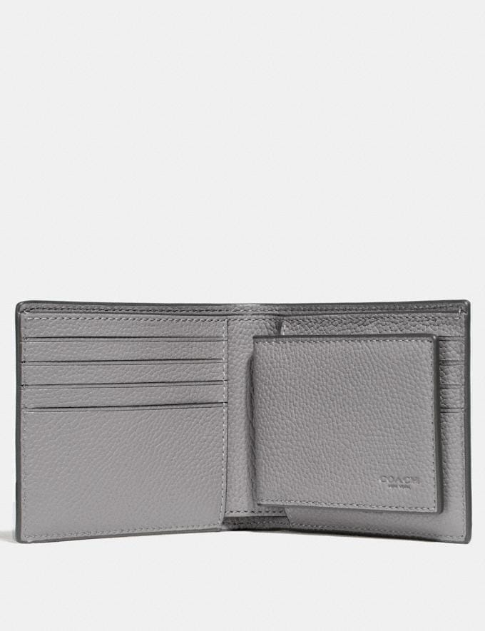 Coach 3-In-1 Wallet Heather Grey Men Wallets Alternate View 1