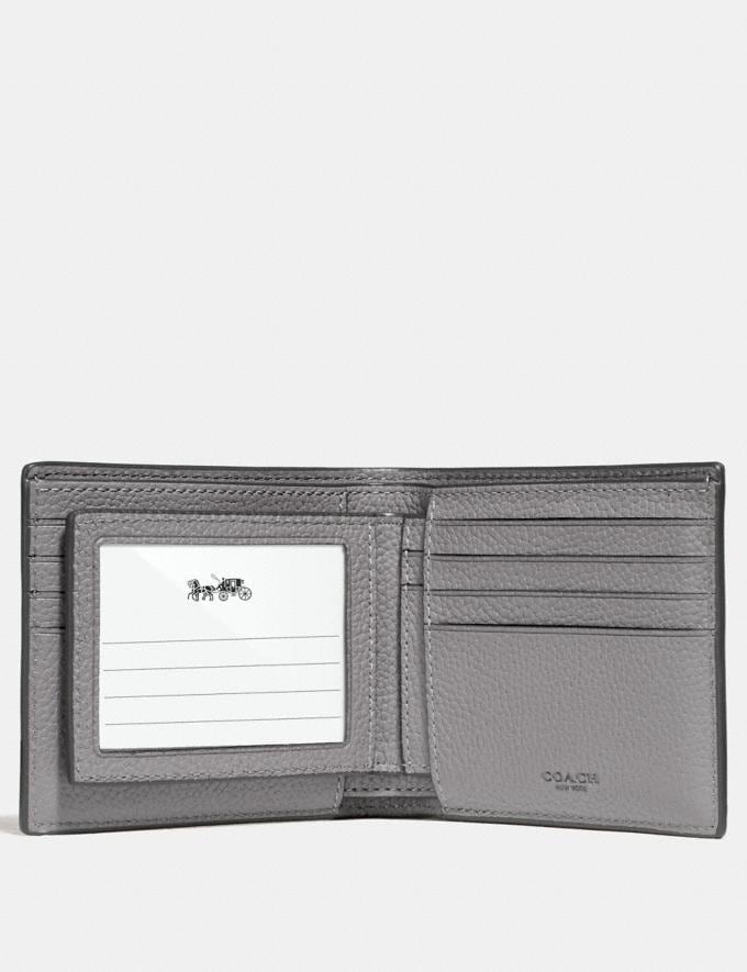 Coach 3-In-1 Wallet Heather Grey Men Wallets Alternate View 2