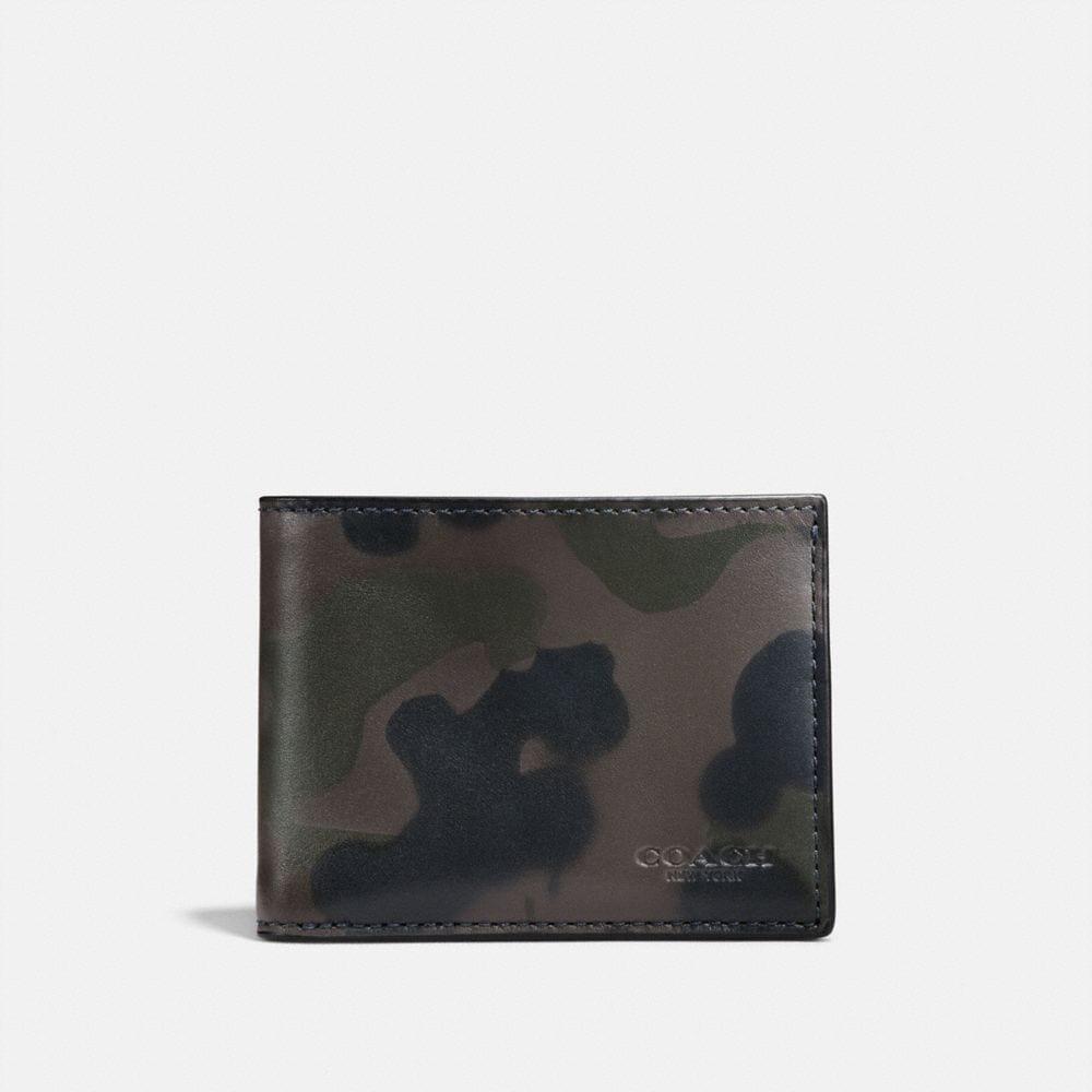 Coach Slim Billfold Wallet With Wild Beast Print