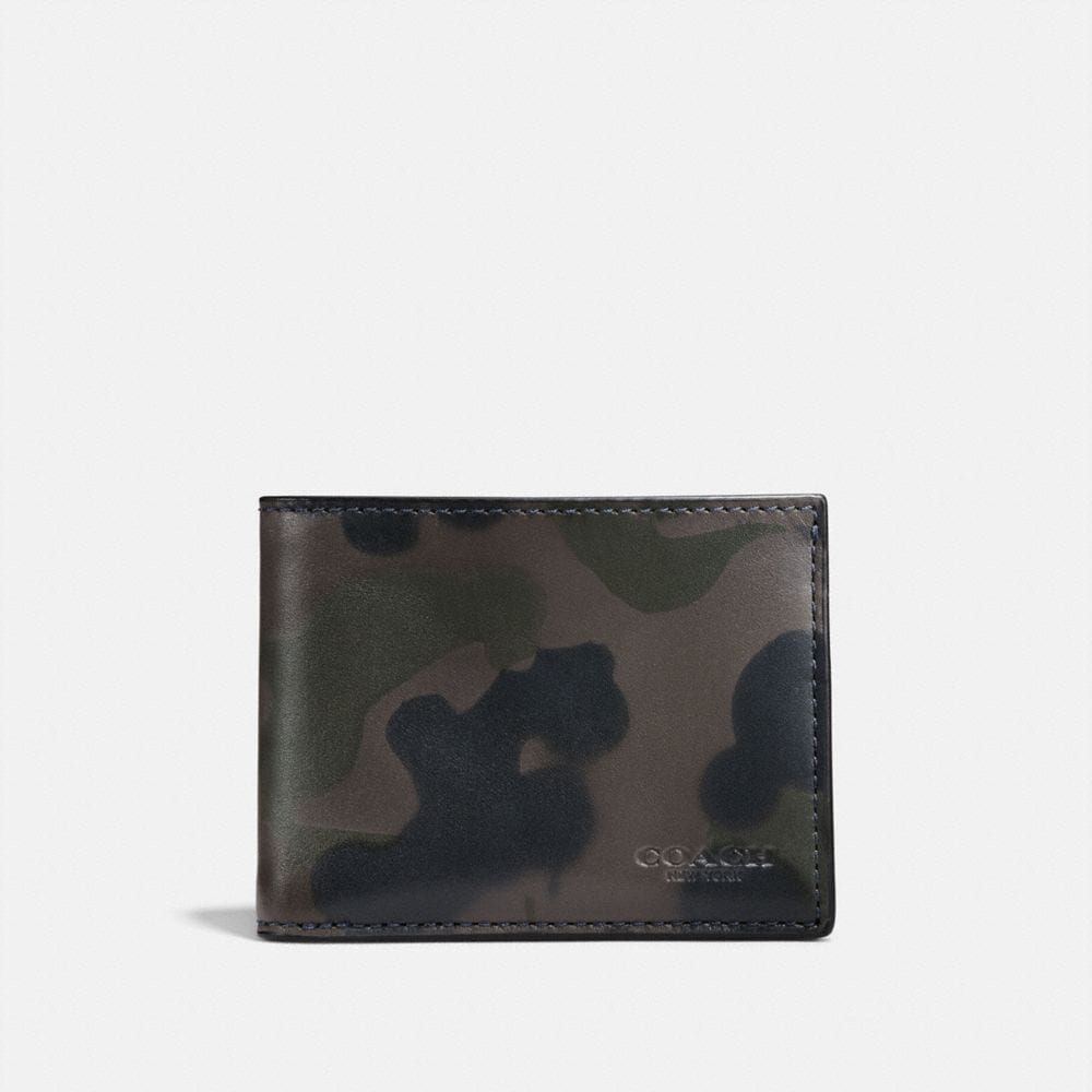 Coach Slim Billfold Wallet With Wild Beast Print