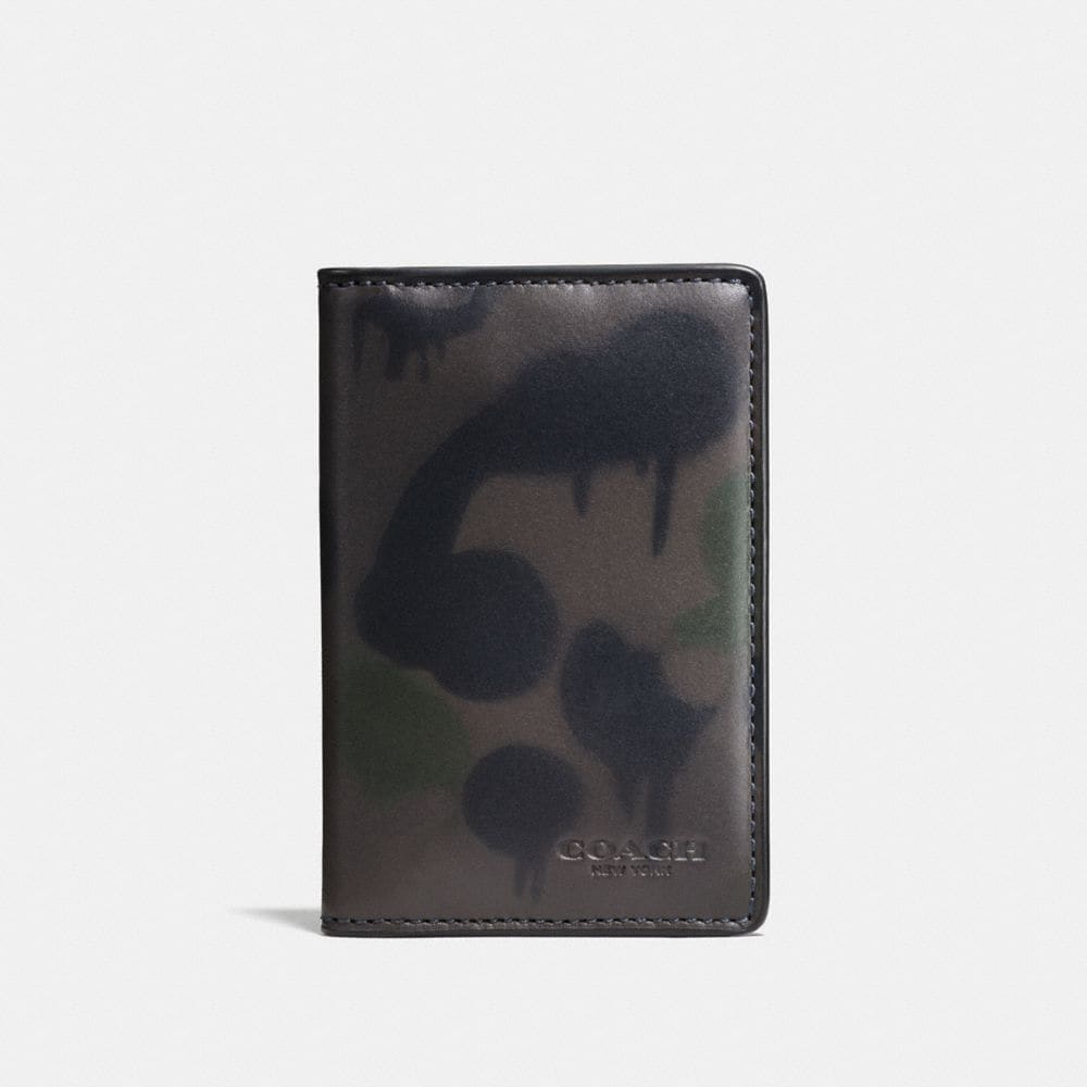 Coach Card Wallet With Wild Beast Print