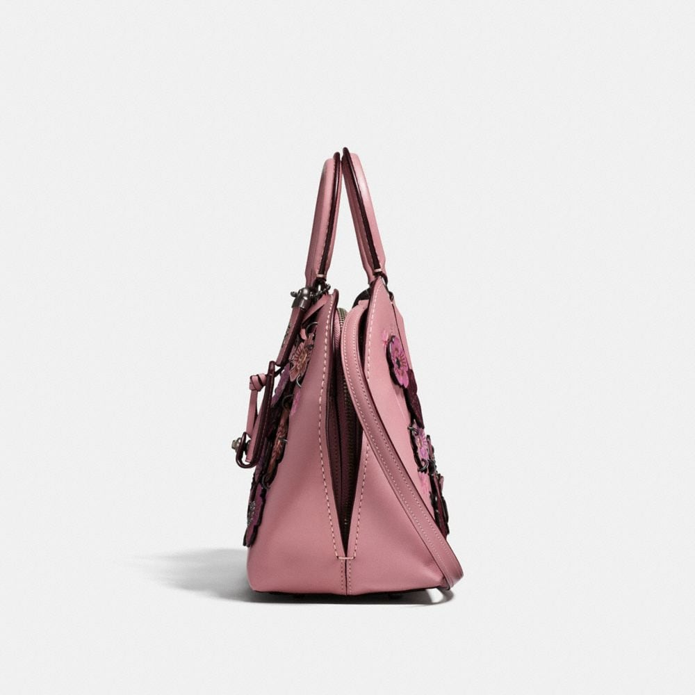 Coach Dakotah Satchel 22 With Linked Tea Rose Alternate View 1
