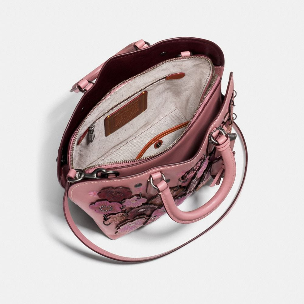 Coach Dakotah Satchel 22 With Linked Tea Rose Alternate View 2