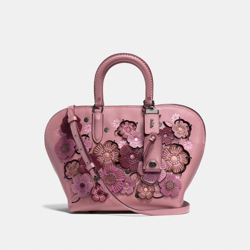 Coach Dakotah Satchel 22 With Linked Tea Rose