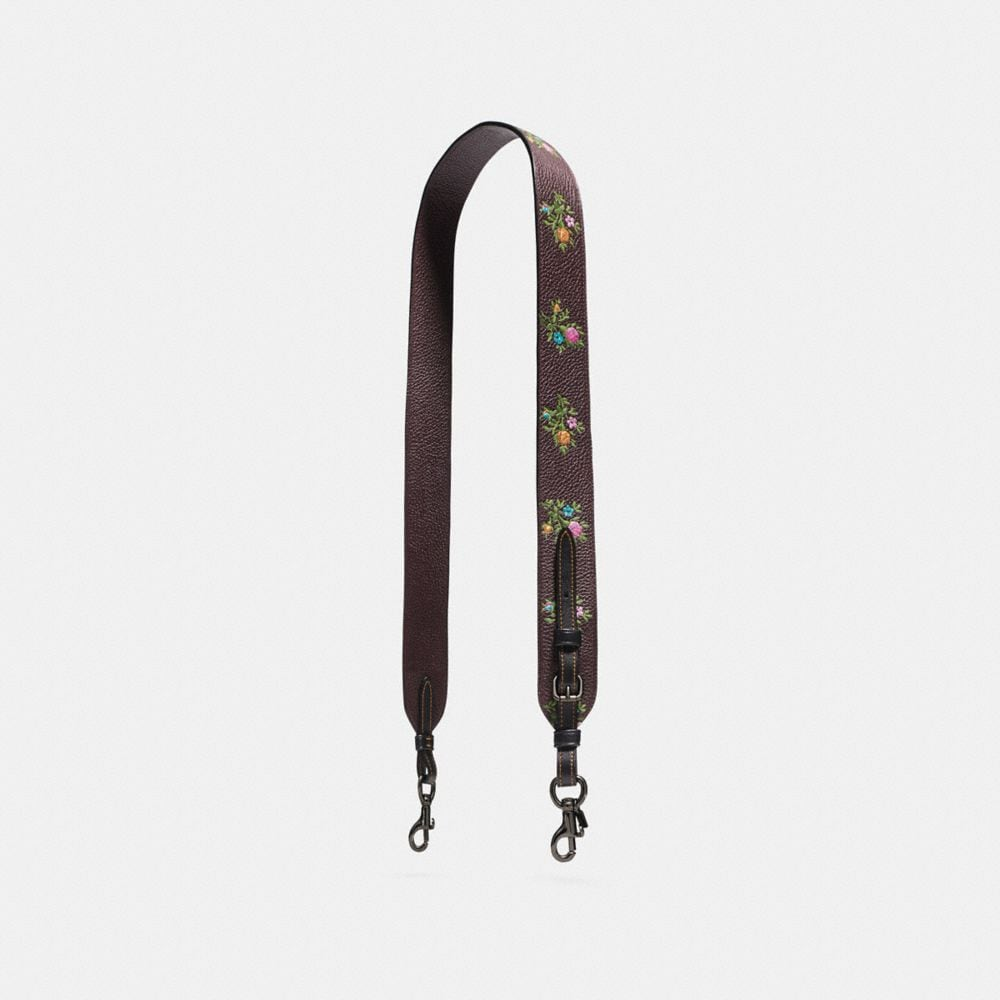 NOVELTY STRAP WITH CROSS STITCH FLORAL PRINT