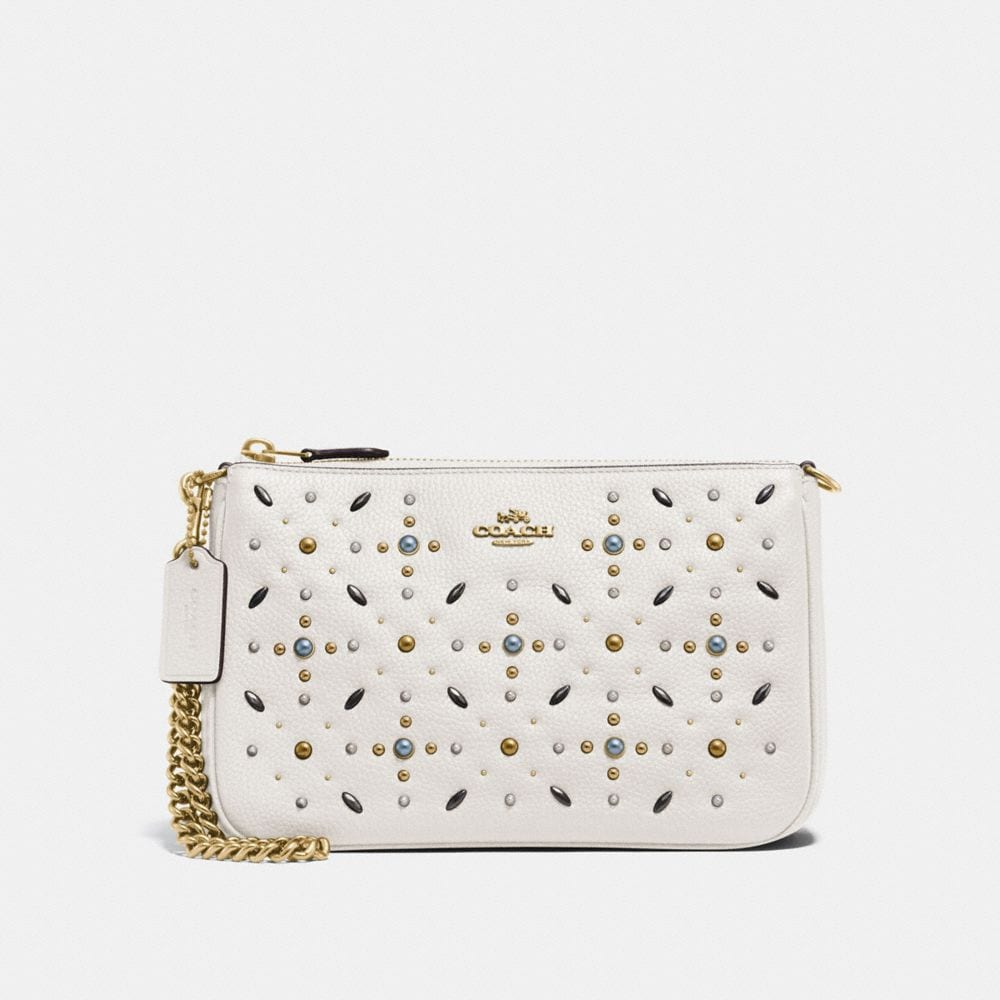 Coach Nolita Wristlet 22 With Prairie Rivets