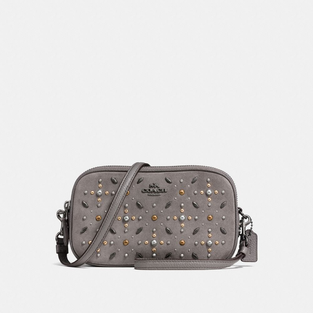 CROSSBODY CLUTCH WITH PRAIRIE RIVETS