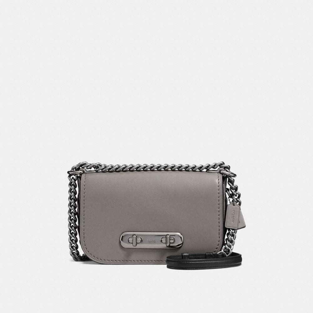 COACH SWAGGER SHOULDER BAG 20 WITH SNAKESKIN COACH LINK DETAIL