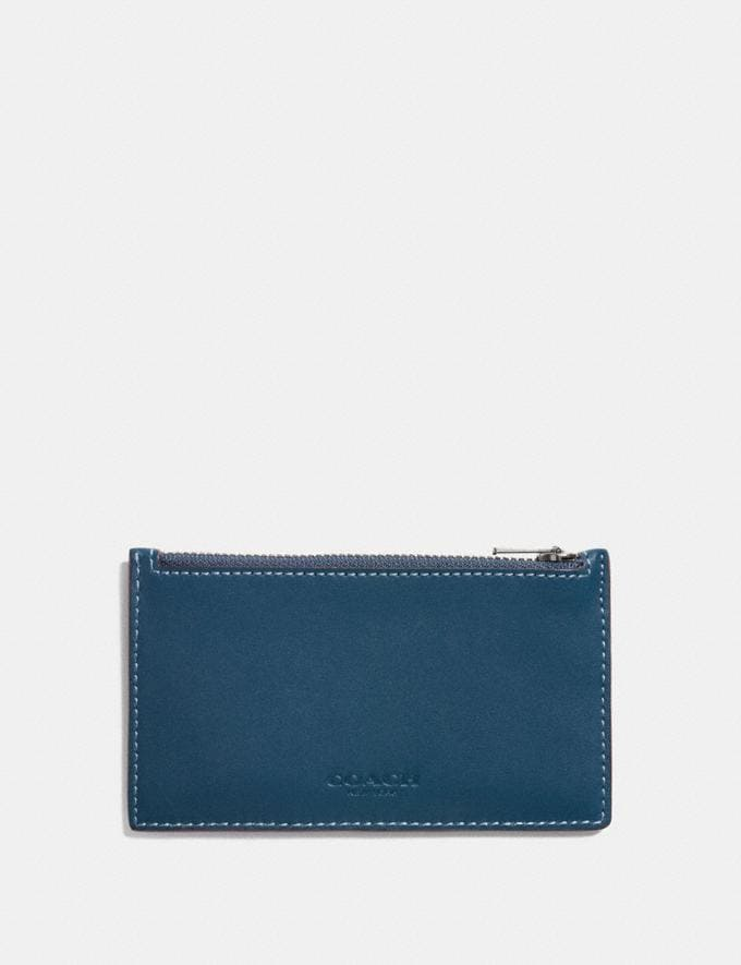 Coach Zip Card Case Denim SALE Men's Sale Wallets