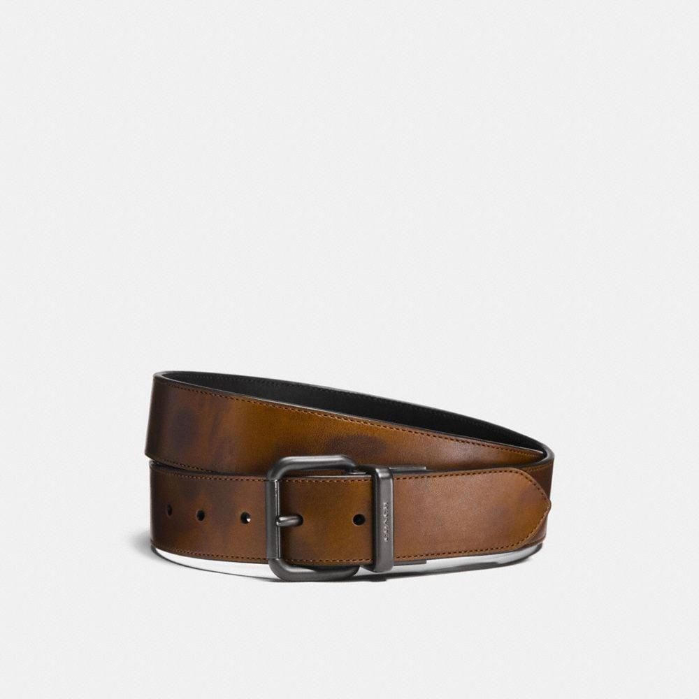 jeans buckle cut-to-size reversible wild beast print belt