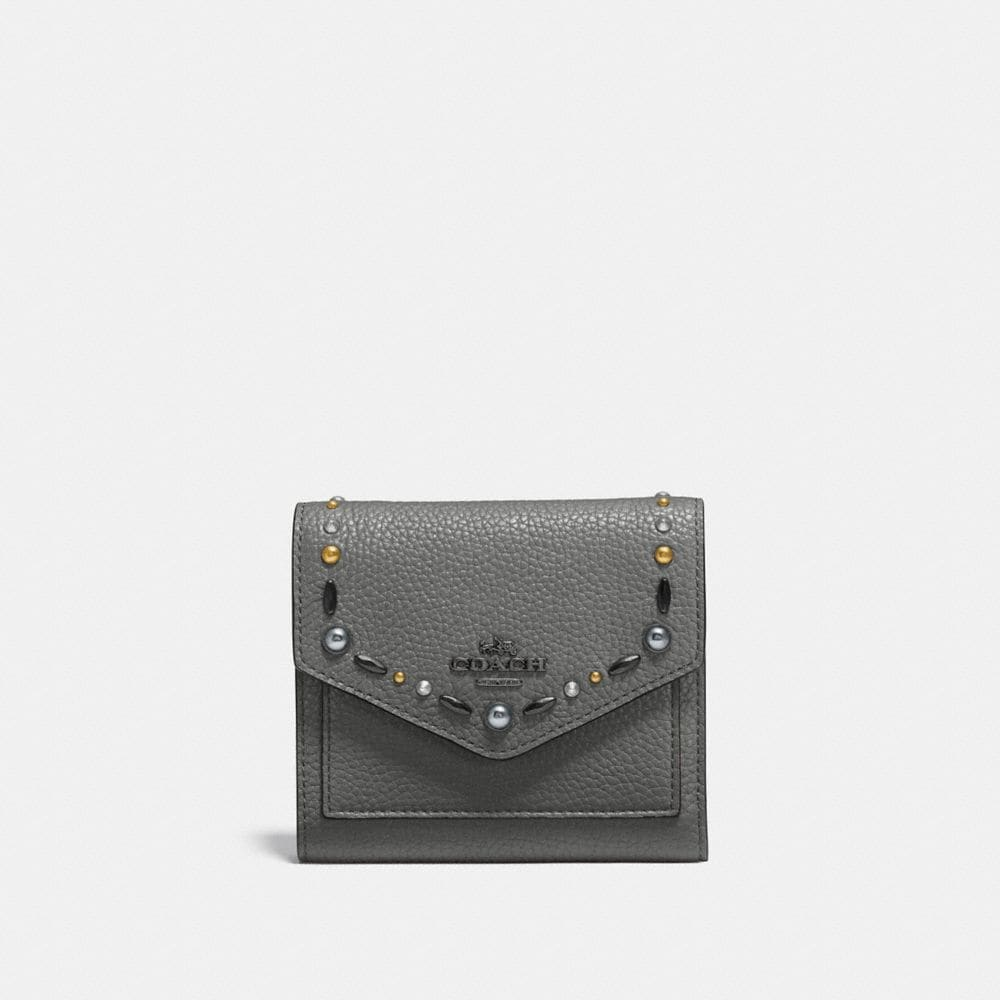 SMALL WALLET WITH PRAIRIE RIVETS
