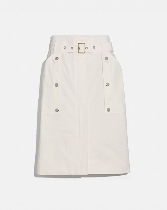 BELTED SAFARI SKIRT