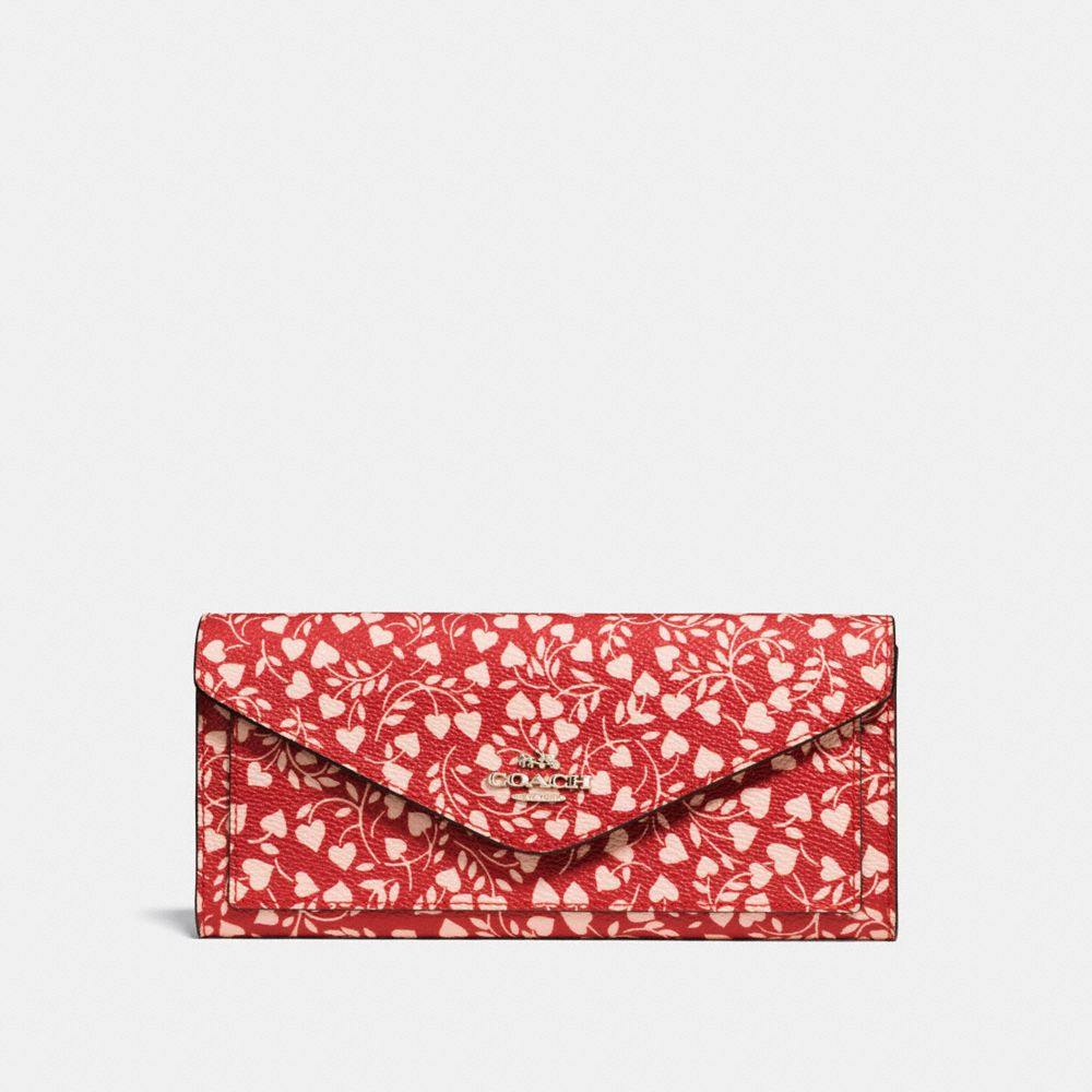 Coach Soft Wallet With Love Leaf Print