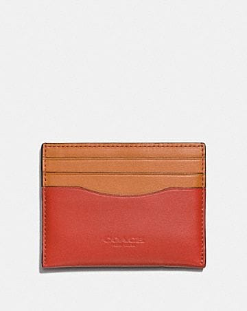 Womens card case wallet guide coach card case in colorblock colourmoves