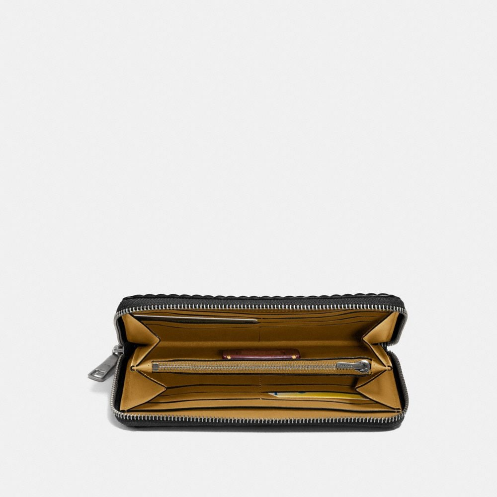 Coach Accordion Zip Wallet With Quilting and Rivets Alternate View 1