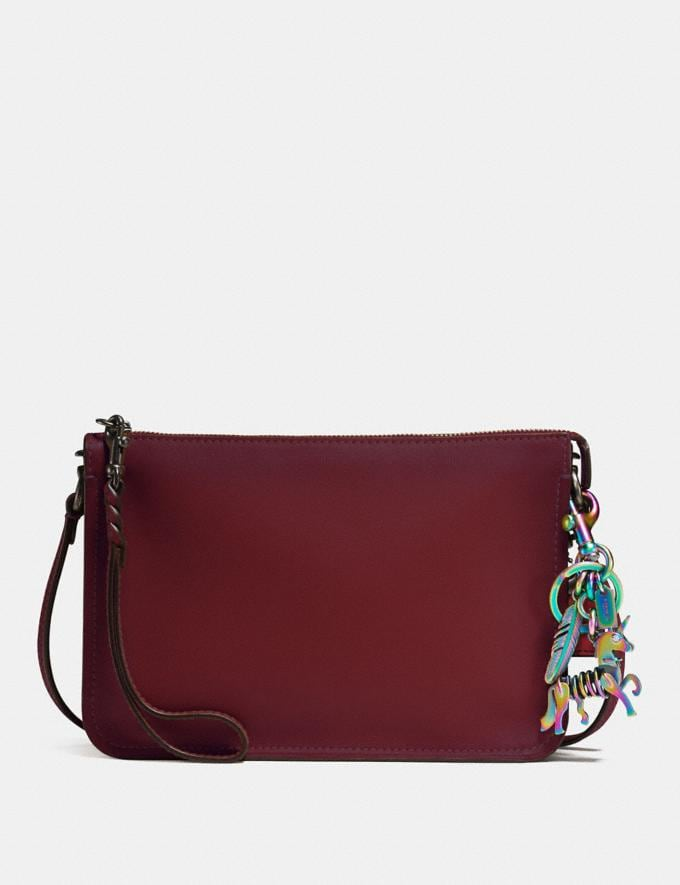 Coach Uni Bag Charm Oilslick Women Accessories Bag Accessories & Keyholders Alternate View 1