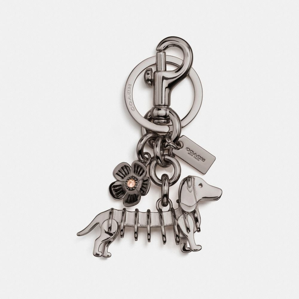 SKELETAL DOG BAG CHARM