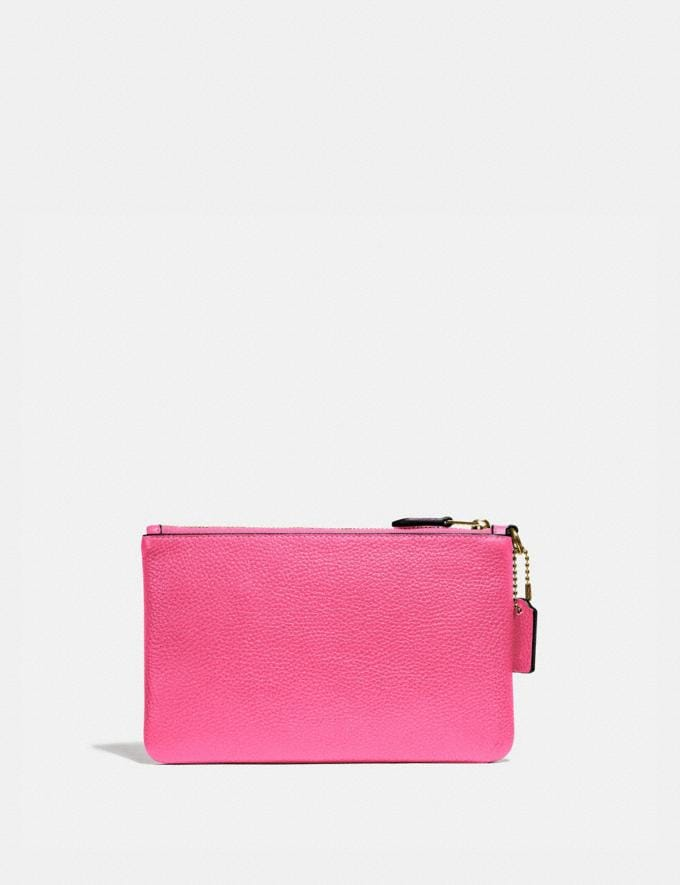 Coach Small Wristlet B4/Confetti Pink Customization Personalize It Monogram for Her Alternate View 1