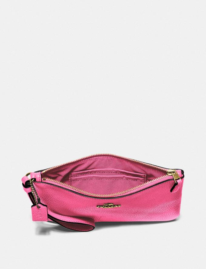 Coach Small Wristlet B4/Confetti Pink Customization Personalize It Monogram for Her Alternate View 2