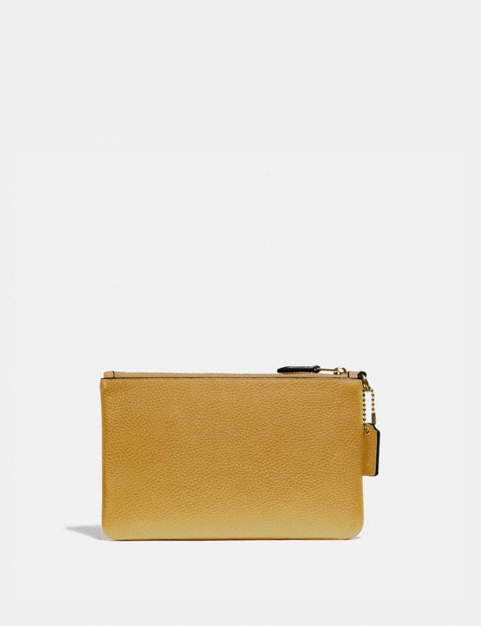 Coach Small Wristlet Brass/Sunlight New Women's New Arrivals Alternate View 1
